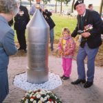 The unveiled monument at the Wylerbaan / Derde Baan near Groesbeek which remembers the drop- and landing zone of 508 PIR and the start of Operation Veritable. Sunday, 16th September 1990, 16.30 hrs.