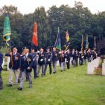 Line up for the service at the Jonkerbos War cemetery. Monday, 17th September 1990, 11.00 hrs.
