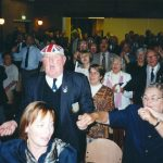 """Land of hope and glory"" during the farewell party for Veterans and their host families in the Mallemolen at Groesbeek. Tuesday, 20th September 1994, 23.00 hrs."