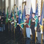 British standards for Nijmegen. On behalf of the twelve Market Garden Veterans branches the standards were symbolically received by Lord Mayor D'Hondt. Tuesday, 2nd May 1995, 14.00 hrs.