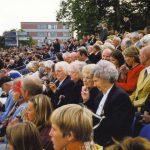 The tribune at the Trianus square. Thursday, 16th September 1999, 19.00 hrs.