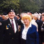 Bob and Irene Raybould before the commemoration at Jonkerbos. Friday, 17th September 1999, 12.00 hrs.