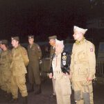 The 82nd Airborne Division lined up at the monument at Beek. Friday, 17th September 1999, 20.00 hrs.