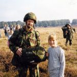 Marin and a British paratrooper at the Ginkel Heath near Ede. Saturday, 18th September 1999, 10.30 hrs.