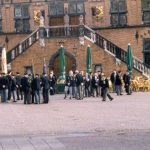In awaiting for the church service before the St. Stevens church at Nijmegen. Sunday, 19th September 1999, 10.00 hrs.