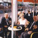 Waiting for the beer at the Nijmegen riverside before the flyover of historical airplanes. Sunday, 19th September 1999, 12.15 hrs.
