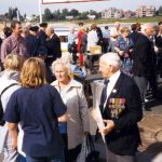 Meeting Bert and Eva Barlow again after lunch at the Nijmegen riverside. Sunday, 19th September 1999, 14.30 hrs.
