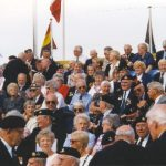 The tribune near the Nijmegen Casino with Veterans waiting for the music show. Sunday, 19th September 1999, 15.00 hrs.