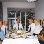 Dinner at Malden with Bert and Eva Barlow (left) and Bob and Irene Raybould (right). Sunday, 19th September 1999, 18.00 hrs.