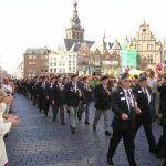 The arrival of the Veterans at the 'Grote Markt' at Nijmegen. Sunday, 19th September 2004, 14.15 hrs.