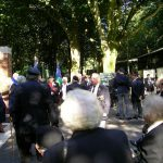The arrival at the Jonkerbosch War Cemetery. Saturday, 17th September 2005, 10.45 hrs.
