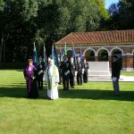 The line-up of the standard bearers at Jonkerbosch. Saturday, 17th September 2005, 11.00 hrs.