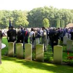 The service at the Jonkerbosch War Cemetery. Saturday, 16th September 2006, 11.17 hrs.
