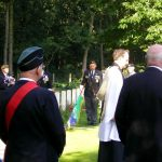 The service at the Jonkerbosch War Cemetery. Saturday, 16th September 2006, 11.21 hrs.