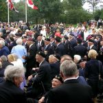 The arrival at the Groesbeek Liberation museum. Sunday, 17th September 2006, 15.25 hrs.