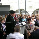 The hand over of the Standards to the Groesbeek Liberation museum. Sunday, 17th September 2006, 16.03 hrs.