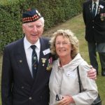 Commemoration at the Mook War Cemetery. Robert Laventry and Alice van Bekkum. Wednesday, 16th September 2009, 11:59 hrs.