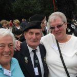 Commemoration at the Mook War Cemetery. From left to right: Shiela Walton, James Walton and Wendy Norris. Wednesday, 16th September 2009, 12:01 hrs.