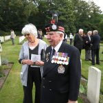 Commemoration at the Mook War Cemetery. Sylvia Rose and Les Gibson. Wednesday, 16th September 2009, 12:59 hrs.