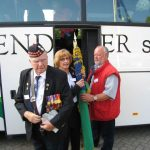 The hand over of the MGVA standards at the Groesbeek liberation museum. Saturday, 19th September 2009, 10:50 hrs.