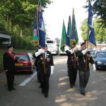 The hand over of the MGVA standards at the Groesbeek liberation museum. Saturday, 19th September 2009, 11:18 hrs.