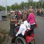 "The 65th commemoration of Operation Market-Garden at the Traianus square at Nijmegen. As Marin was in a wheelchair we were ""honoured"" with a place at the front. Sunday, 20th September 2009, 15:17 hrs."