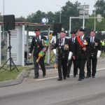 The 65th commemoration of Operation Market-Garden at the Traianus square at Nijmegen. The arrival of the MGVA standard bearers. Sunday, 20th September 2009, 15:35 hrs.