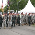 The 65th commemoration of Operation Market-Garden at the Traianus square at Nijmegen. The 82nd AB division deligates from Fort Bragg and Fort Benning in the USA. Sunday, 20th September 2009, 16:05 hrs.