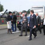 The 65th commemoration of Operation Market-Garden at the Traianus square at Nijmegen. The arrival of Lord Carrington and the Dutch minister of defence Eimert van Middelkoop. Sunday, 20th September 2009, 16:33 hrs.