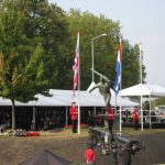The 65th commemoration of Operation Market-Garden at the Traianus square at Nijmegen. The National Anthems. Sunday, 20th September 2009, 16:47 hrs.
