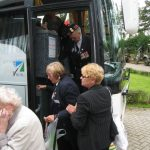 Presentation of the standards at the Liberation museum at Groesbeek. The arrival at the museum. Saturday, 17th September 2011, 11:46 hrs.