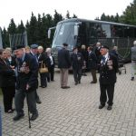 Presentation of the standards at the Liberation museum at Groesbeek. The arrival at the museum. Saturday, 17th September 2011, 11:48 hrs.