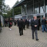 Presentation of the standards at the Liberation museum at Groesbeek. The arrival at the museum. Saturday, 17th September 2011, 11:50 hrs.