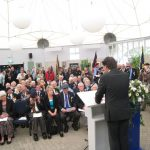 Presentation of the standards at the Liberation museum at Groesbeek. Ceremony in the dome of Honour. Welcome by Mr. Wiel Lenders, director of the Liberation Museum. Saturday, 17th September 2011, 12:35 hrs.