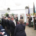 Presentation of the standards at the Liberation museum at Groesbeek. Ceremony in the dome of Honour. Speech by Charles Reeves, National President Market-Garden Veterans' Association. Saturday, 17th September 2011, 12:37 hrs.