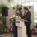Presentation of the standards at the Liberation museum at Groesbeek. Ceremony in the dome of Honour. Word of thanks by Mr. Wiel Lenders. Saturday, 17th September 2011, 12:49 hrs.