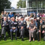 Presentation of the standards at the Liberation museum at Groesbeek. Unveiling listening location 39. Saturday, 17th September 2011, 12:59 hrs.