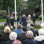 Presentation of the standards at the Liberation museum at Groesbeek. Unveiling listening location 39. Saturday, 17th September 2011, 13:00 hrs.