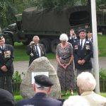 Presentation of the standards at the Liberation museum at Groesbeek. Unveiling listening location 39. Saturday, 17th September 2011, 13:01 hrs.