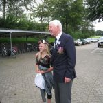 Presentation of the standards at the Liberation museum at Groesbeek. Departure for the lunch at the Oude Molen. The last change for an unique photograph. Saturday, 17th September 2011, 13:38 hrs.