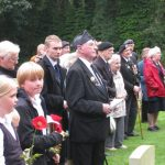 Commemoration at the British War Cemetery at Mook. Sunday, 18th September 2011, 15:53 hrs.