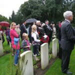 Commemoration at the British War Cemetery at Mook. Sunday, 18th September 2011, 15:59 hrs.