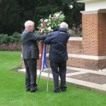 Commemoration at the British War Cemetery at Mook. Sunday, 18th September 2011, 16:03 hrs.