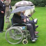 Commemoration at the British War Cemetery at Mook. Sunday, 18th September 2011, 16:04 hrs.