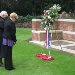 Commemoration at the British War Cemetery at Mook. Sunday, 18th September 2011, 16:05 hrs.