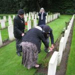 Commemoration at the British War Cemetery at Mook. Sunday, 18th September 2011, 16:09 hrs.