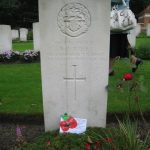 Commemoration at the British War Cemetery at Mook. Sunday, 18th September 2011, 16:10 hrs.