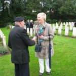 Commemoration at the British War Cemetery at Mook. Sunday, 18th September 2011, 16:21 hrs.