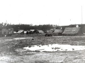 The Operations tent area probably at B-91. RAF Museum Photograph, REF No. 6039-6. Reproduction forbidden without prior consent from photographic section. RAF MUSEUM HENDON LONDON NW9 5LL, Tel No. 020 8205 2266