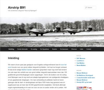 """Airstrip B91: Het verdwenen vliegveld """"Kluis bij Nijmegen"""""""